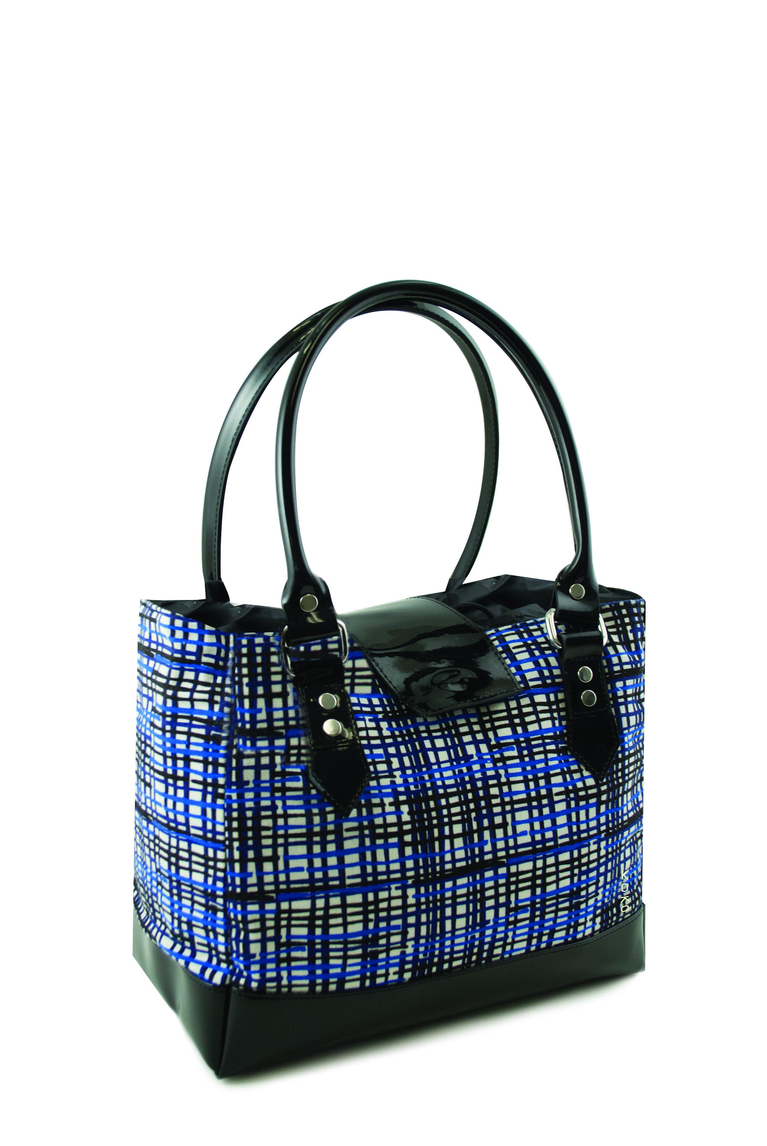 Megan Cobalt Stripe Insulated Lunch Bag By Koko