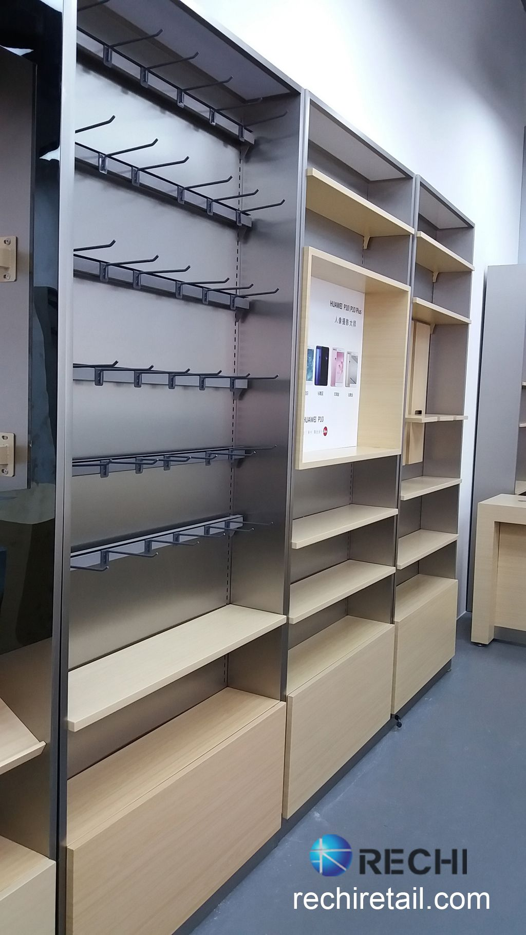 Retail Display Cabinet For Huawei