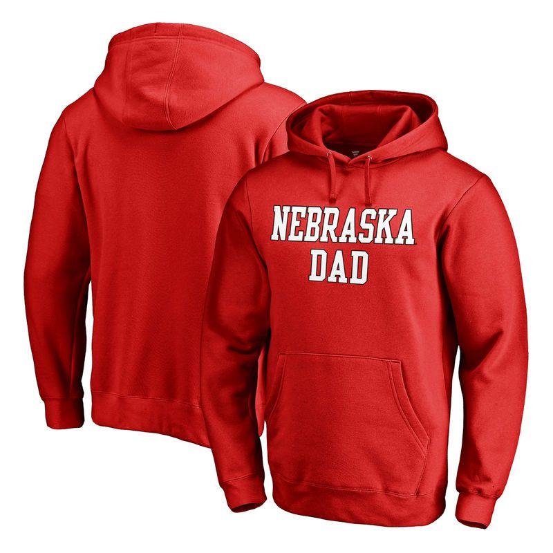Nebraska Cornhuskers Fanatics Branded Big   Tall Team Dad Pullover Hoodie -  Red 7ce639bcb