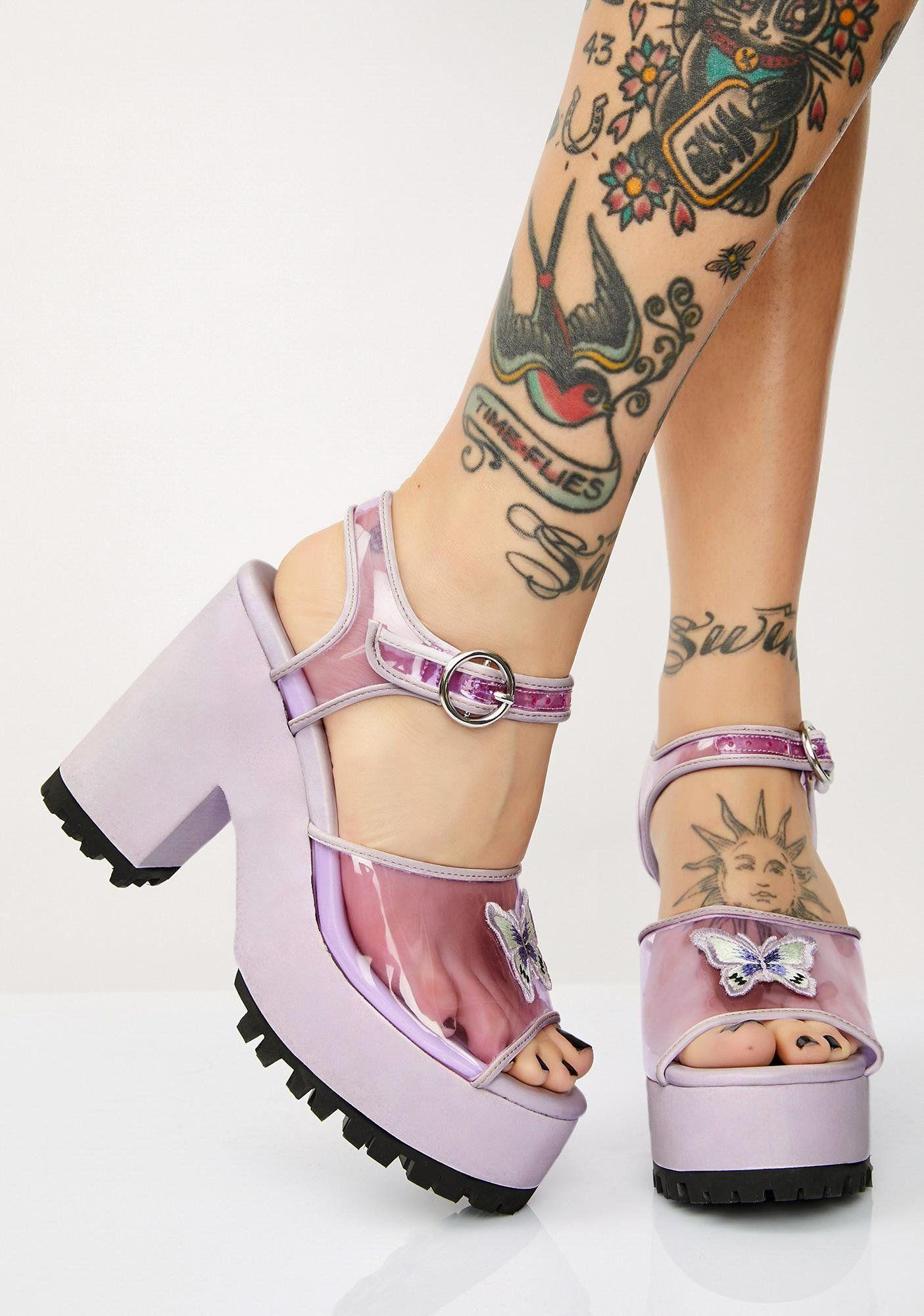372ae7ae8f16a Butterfly Behavior Platform Sandals in 2019 | SUGAR THRILLZ | Shoes ...