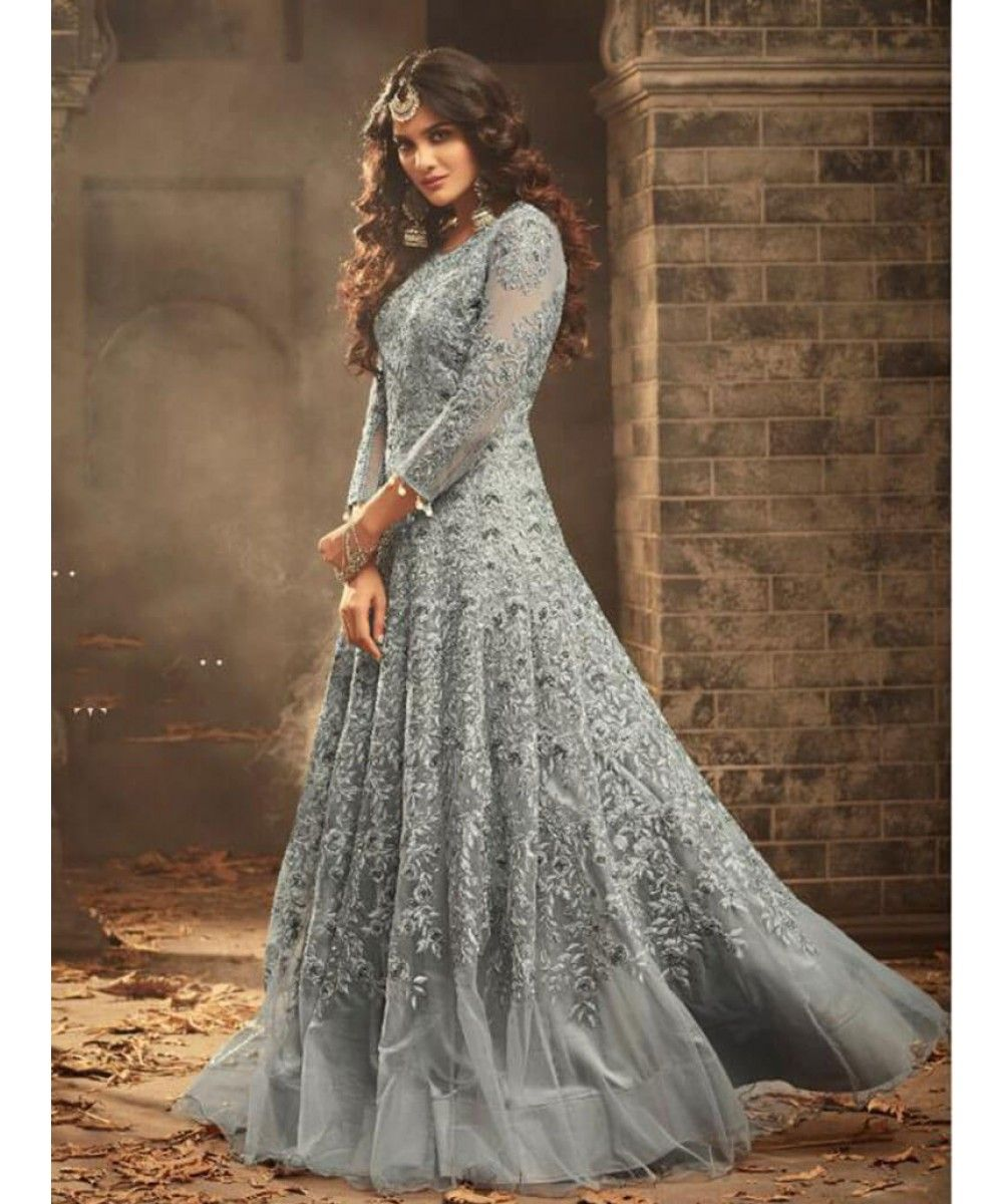 8a752277eb Designer Long Anarkali Suit Dress shopping - Exclusive collection of latest  Green Salwar Kameez online in India, US, UK, Canada. Free shipping in  India, ...