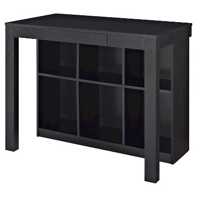 Parsons Desk With Cubbies Black Ameriwood Home Parsons Desk