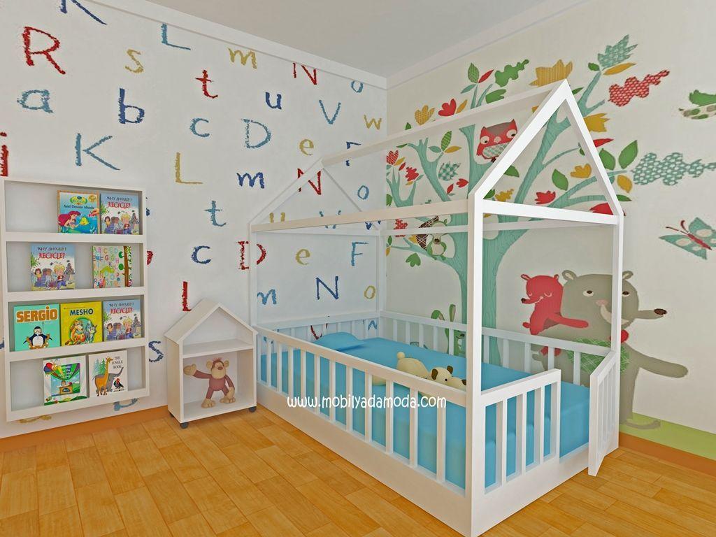 Mobilya Mobilyanin Haute Couture Markasi Mobilyada Moda Mobilya Bebek Odasi Cocuk Odasi Montessori Yatak Montesori Yatak Kisiye Ozel Toddler Bed Baby Room Bed