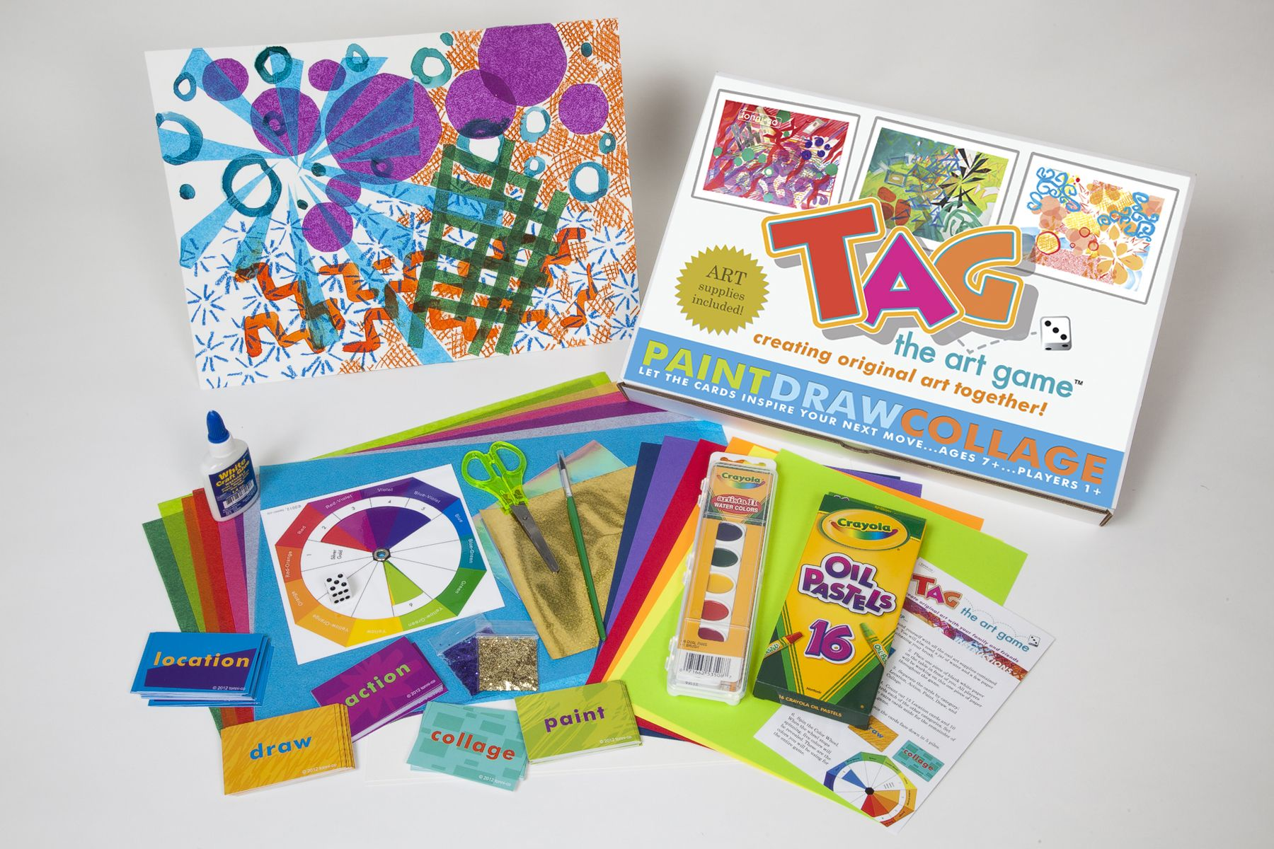TAG - The Art Game Review and Game Giveaway-Enter to win!! Paint. Draw. Collage. Excellent art game for the home, any classroom or social event!