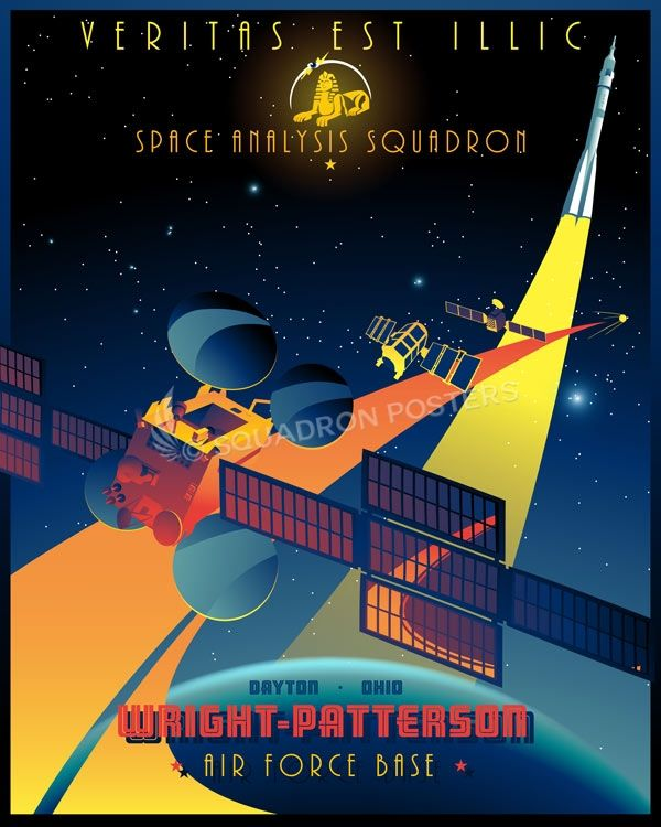Space Analysis Squadron Vintage Space Poster Aviation Posters Space Poster