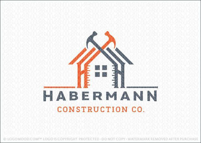 Logo For Sale Handyman Construction Building Logo Design Featuring A Home Design Created With