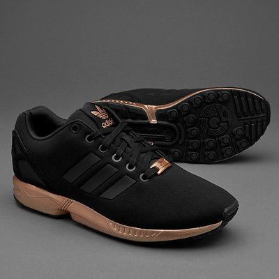 WOMENS ADIDAS ZX FLUX CORE BLACK COPPER ROSE GOLD BRONZE S78977 LIMITED  EDITION dc06817713
