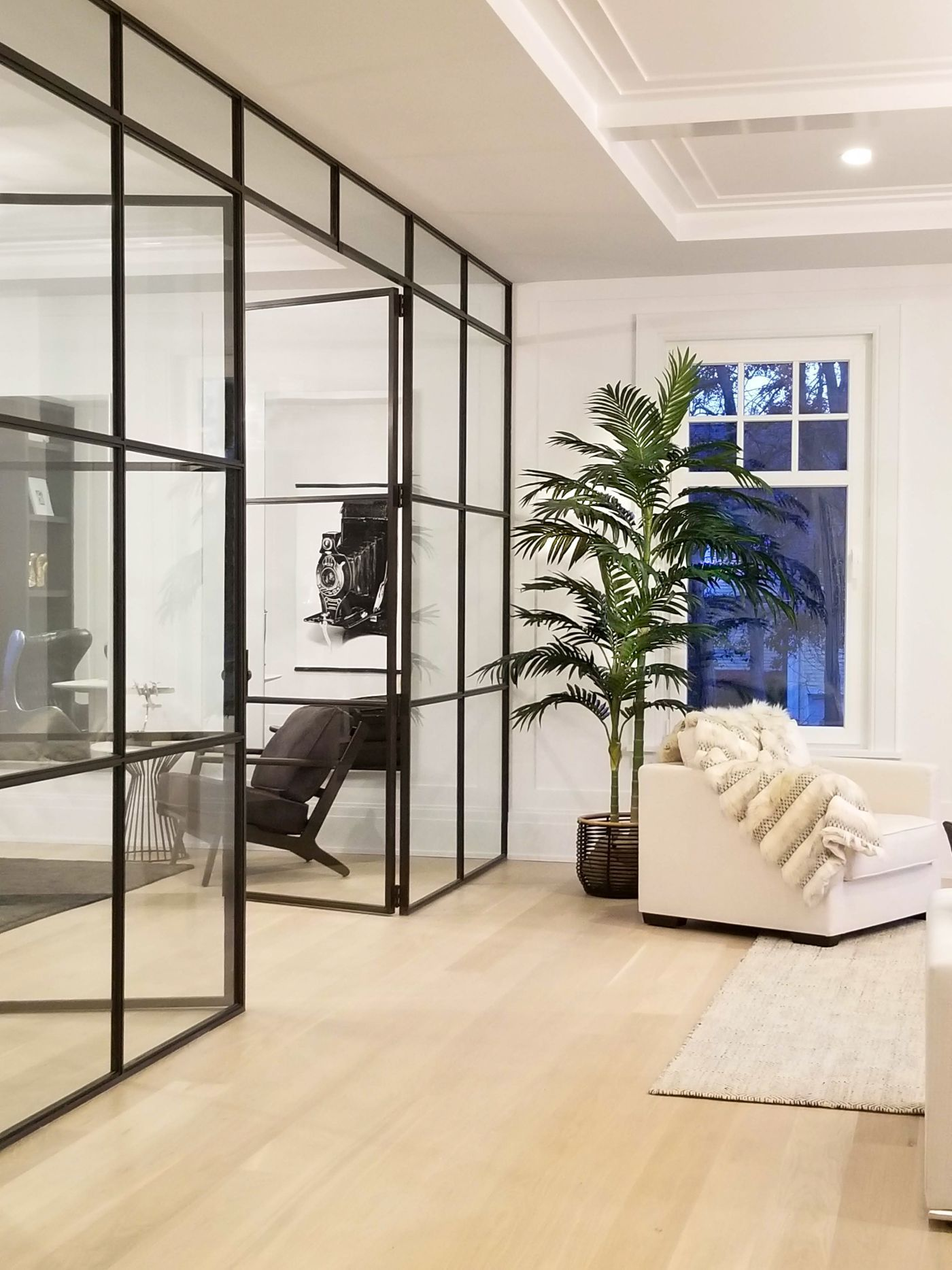 Steel And Glass Wall Home Office Home Building A House Home Decor
