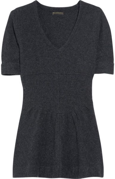 Burberry Prorsum Flared Cashmere-blend Sweater in Gray
