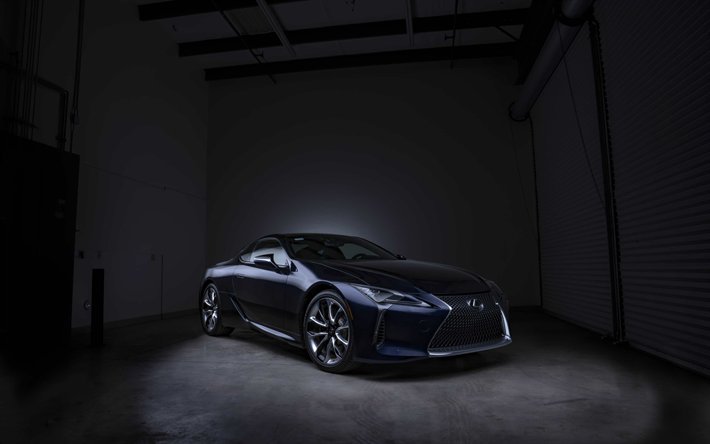 Download Wallpapers Lexus LC 500, Black Panther Edition, 2018 Cars,  Supercars, LC