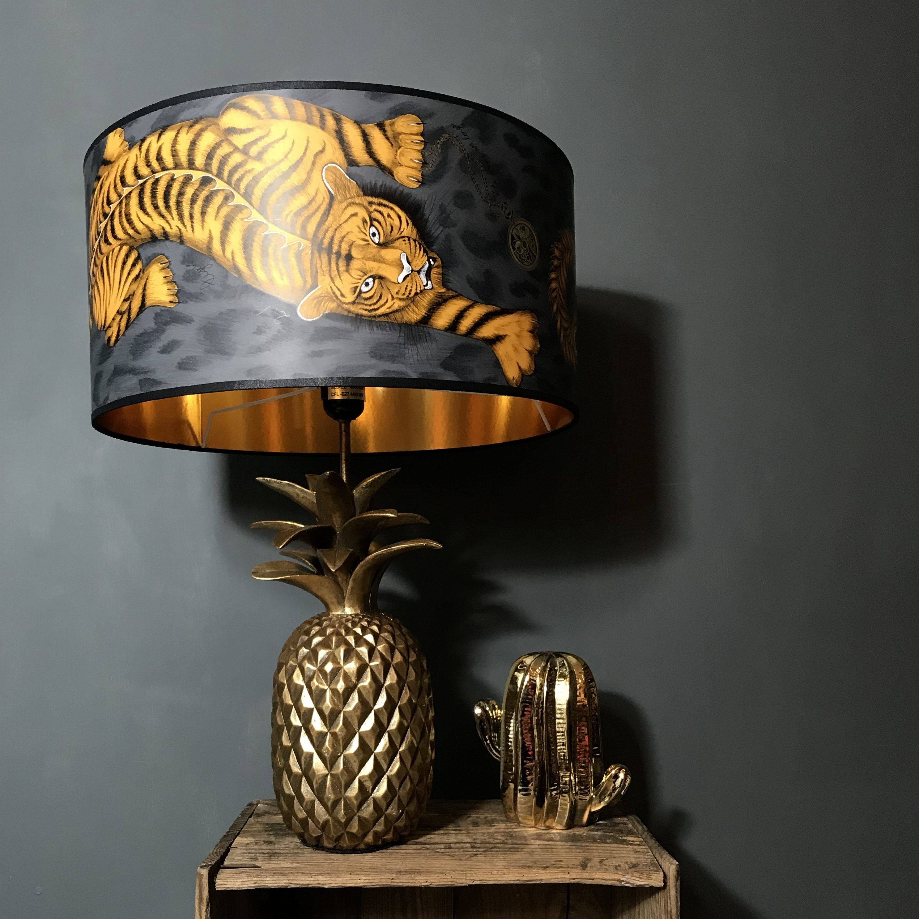 Enter The Enigmatic And Magical World Of Animalia The Newest Collection Of Wallpaper And Fabrics From The Outstanding Handmade Lampshades Gold Line Lampshades