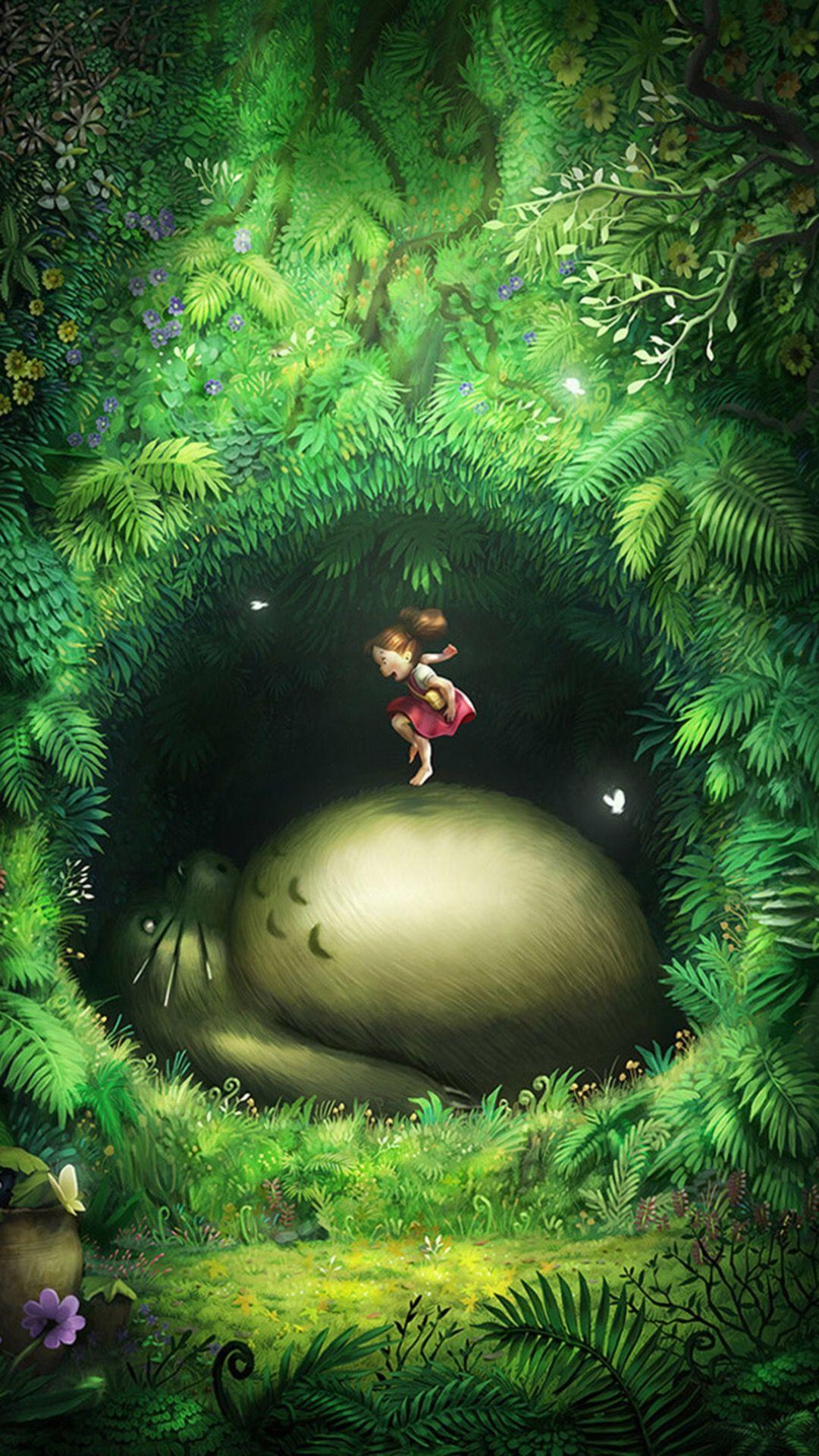 Épinglé par Sarah L Welch sur Wallpaper phone Totoro