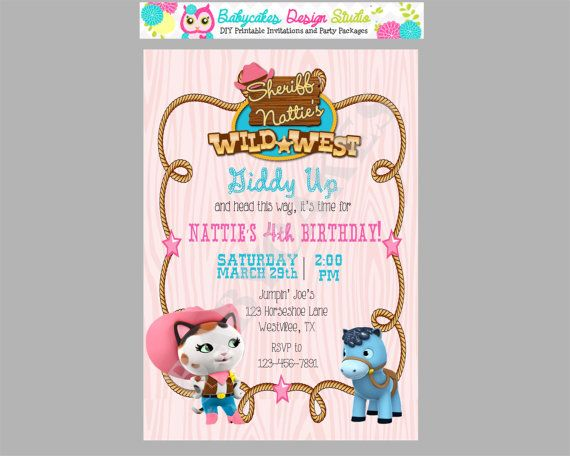 Sheriff Callie Birthday Invitation Diy