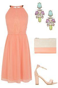 Nice Summer Halter Dresses Orange Wedding Outfit For A Guest