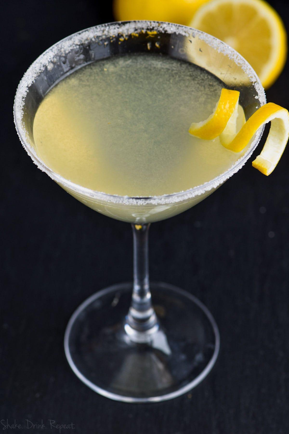 Lemon drop martini shake drink repeat recipe lemon