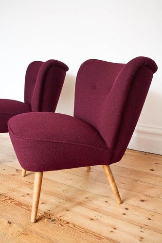 Retro 50s Cocktail Chair Armchair Fabric Vintage 60s