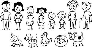 Resultado de imagem para family of 3 drawing