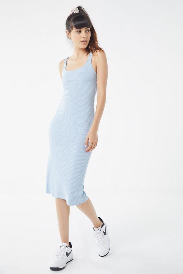 Uo Bella Ribbed Knit Bodycon Midi Dress Bodycon Dress