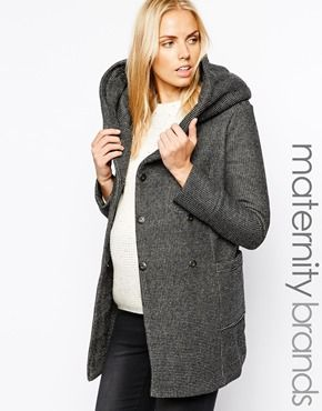 a937ef8c65b28 New Look Maternity Salt and Pepper Infinity scarf Coat | M-Style ...