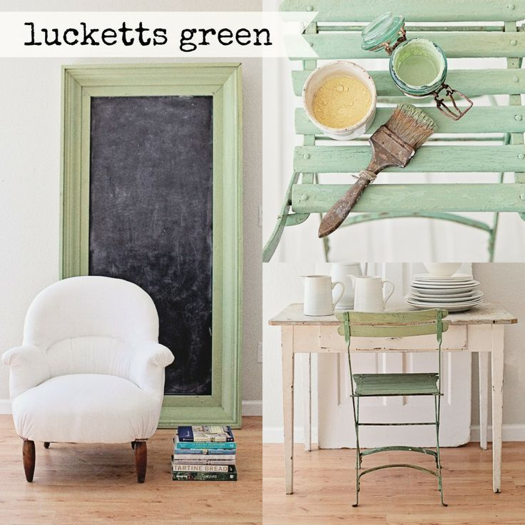 Milk Paint ~ Lucketts Green by The Sugar Post | The Sugar Post