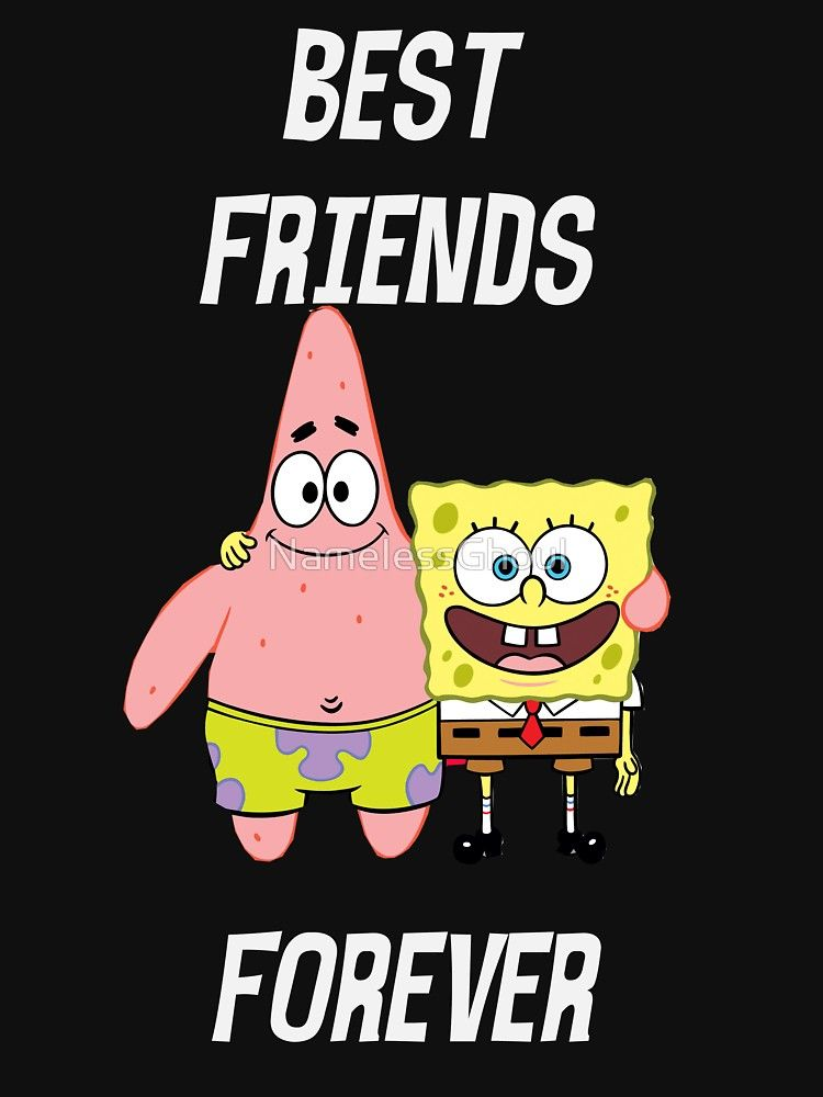 Patrick Spongebob Best Friends Forever White Text Essential T Shirt By Namelessghoul Best Friends Cartoon Spongebob Best Friend Friend Cartoon