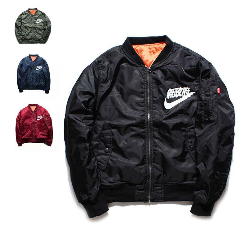 257f60a2f04b Ma1 Bomber Jacket 2017 winter jackets Pilot Anarchy Outerwear Men ...