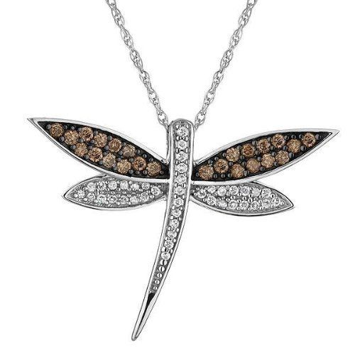 Diamond and champagne diamond dragonfly pendant 13ctw reeds http diamond and champagne diamond dragonfly pendant 13ctw reeds httpwww mozeypictures Images