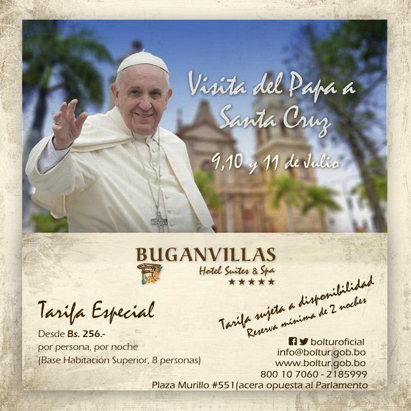 #PapaEnBolivia Tarifas desde Bs. 256 por noche (promoción sujeta a disponibilidad) #Bolivia #BoliviaTeEspera #Boltur