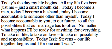sweetest wedding vows o wedding