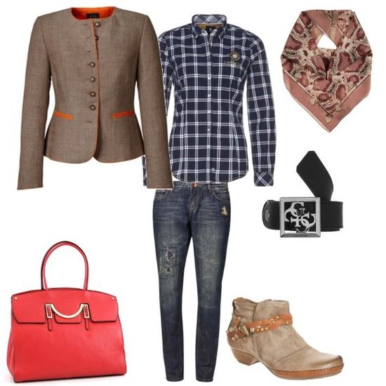 Casual Look - Tracht trifft Jeans