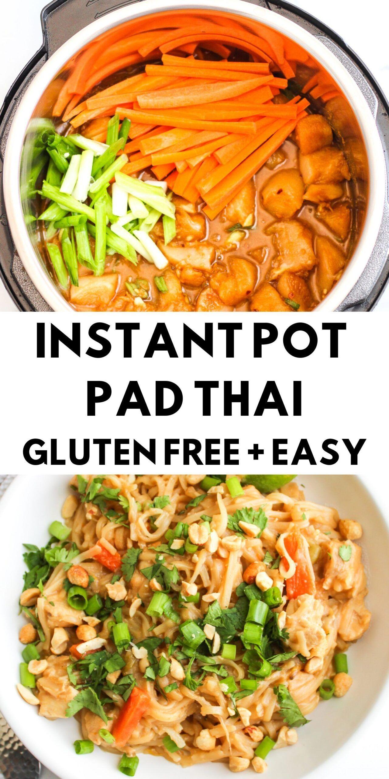 Instant Pot Pad Thai - Gluten Free -