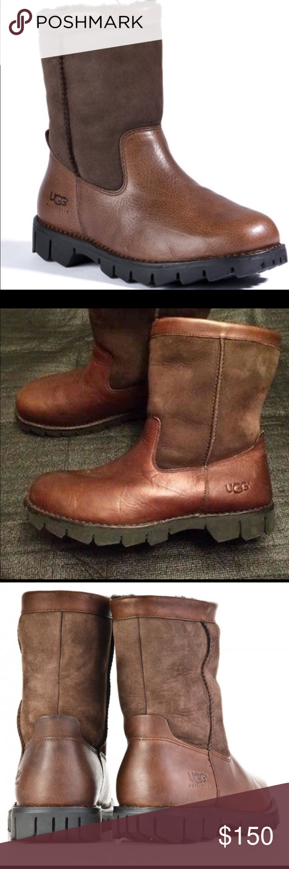UGG Beacon Leather Men's Boots 12