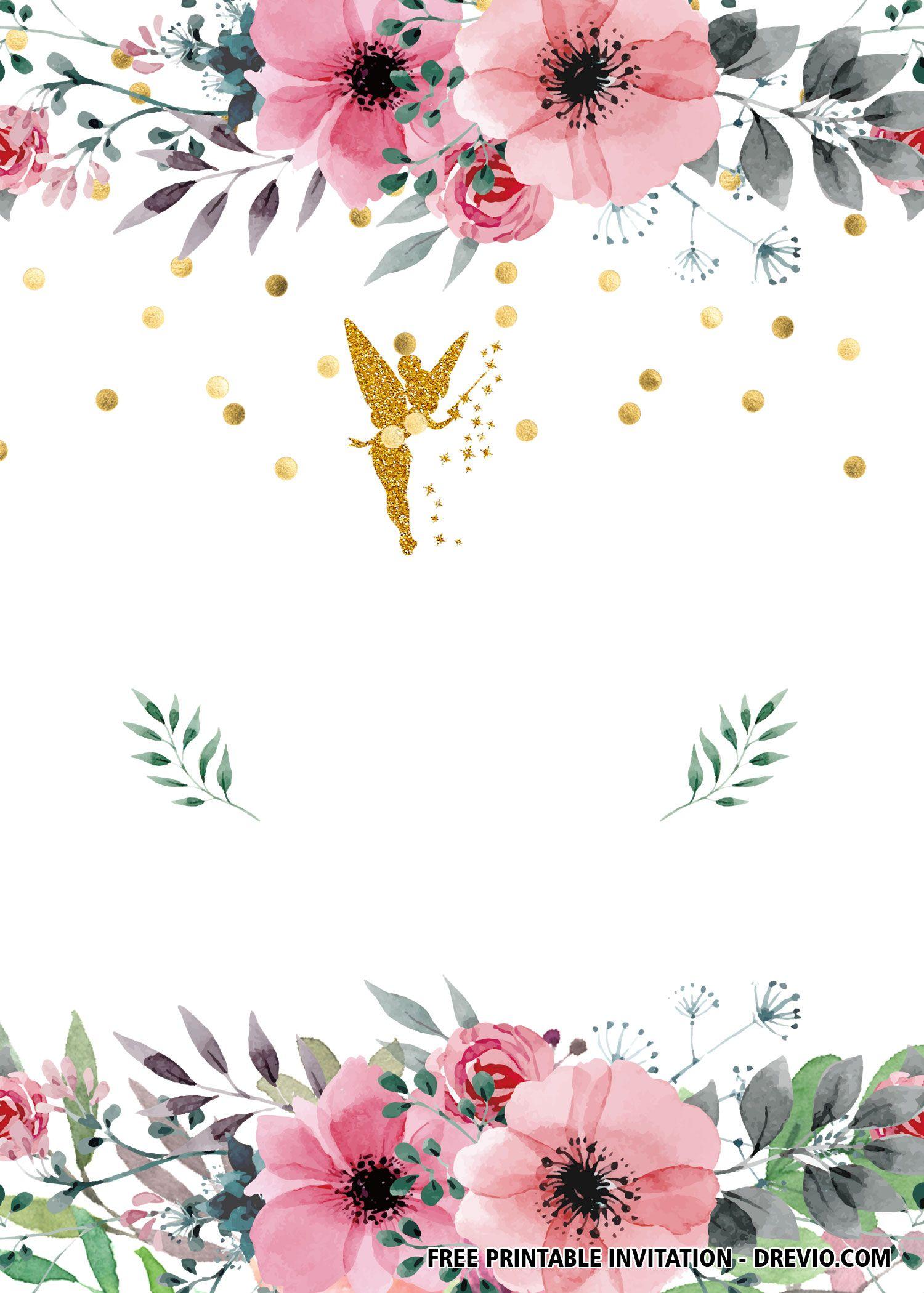free fairy invitation templates fairy