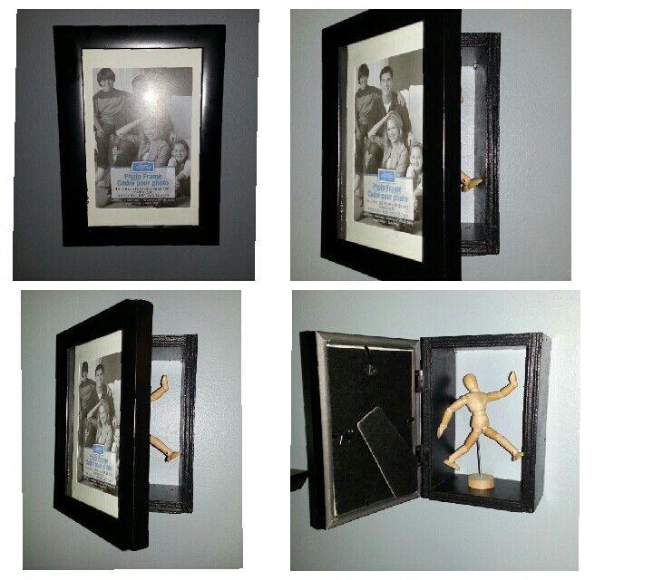 Hidden storage area behind a photo frame. | Innovative Furniture ...