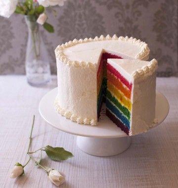 Rainbow cake (layer cake arc-en-ciel) Recette Gâteaux, Couches - faire un plan de maison facilement
