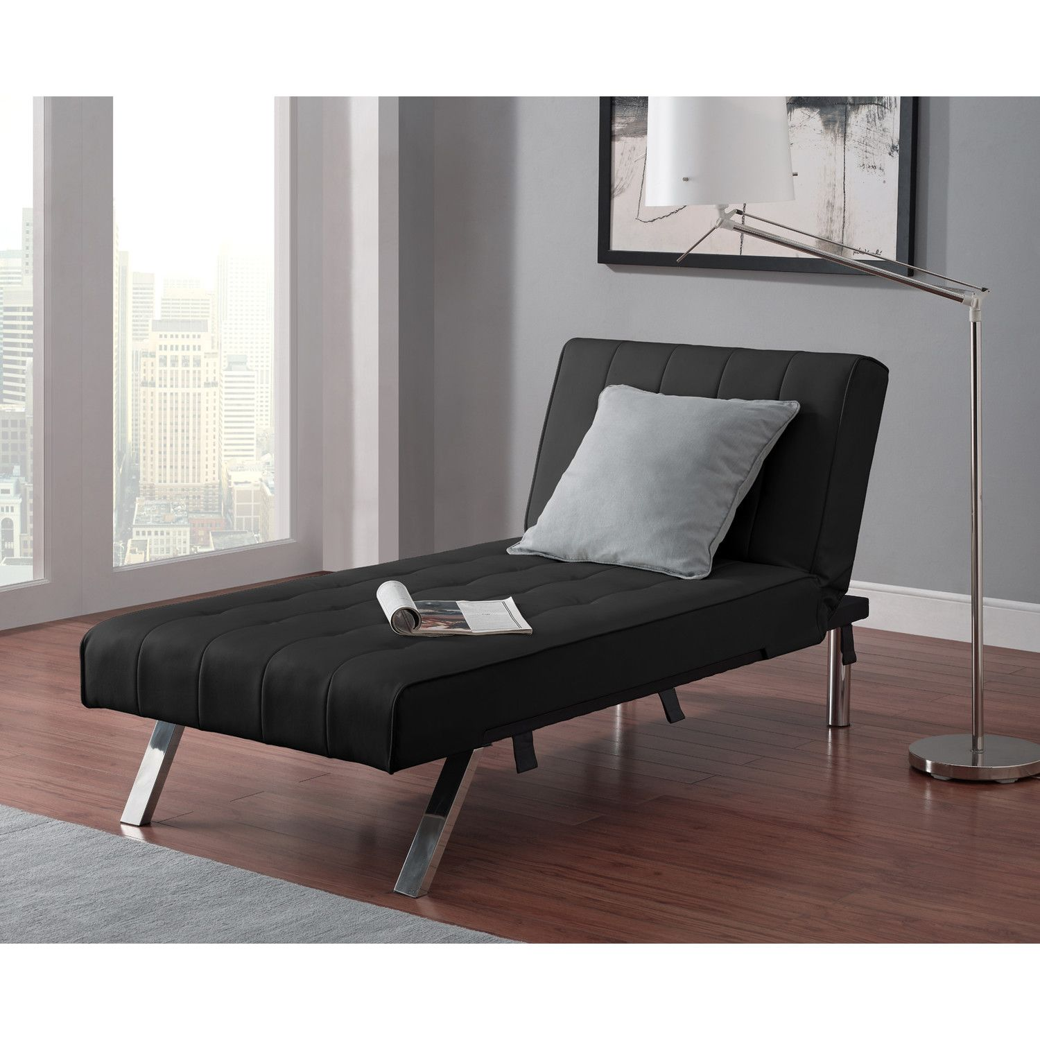 Use a convertible lounge as a chair and a sleeper, which is ideal when you need an extra bed in your home but don't have the room for a traditional bed, such as a twin bed.