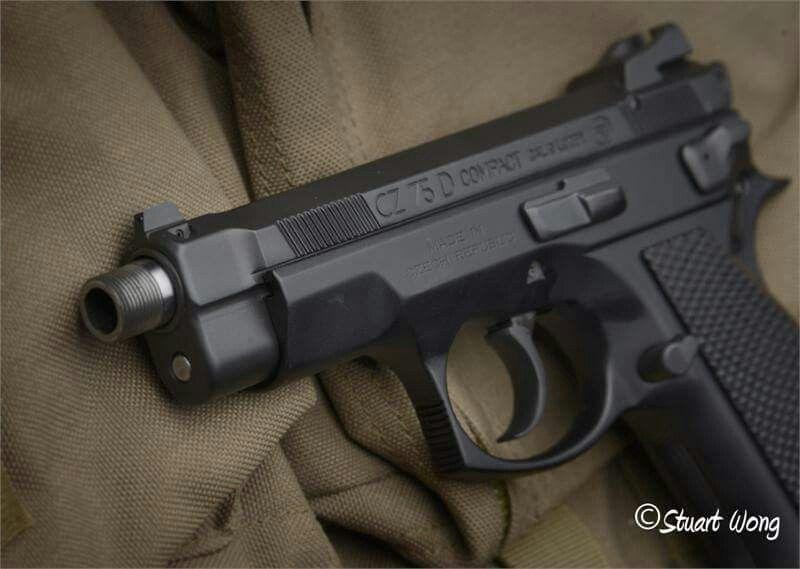Suppressor Ready CZ 75 Compact Threaded 9mm Barrel Fits P01