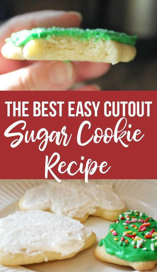 The BEST Easy Cutout Sugar Cookie Recipe with The Perfect Buttercream Icing. You... -