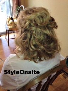 Half Up Half Down Curls Mother Of The Bride Mother Of The Bride