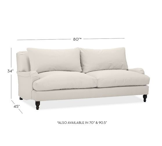 Carlisle Sofa Overall 80 Wide X 45 Deep 34 High Seat Depth Inside Seating 22 5