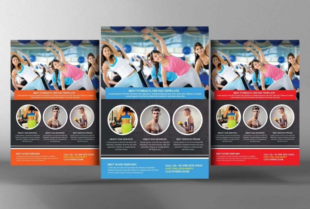 Gym Advertisement Flyer Template   Fitness Flyer Template Psd