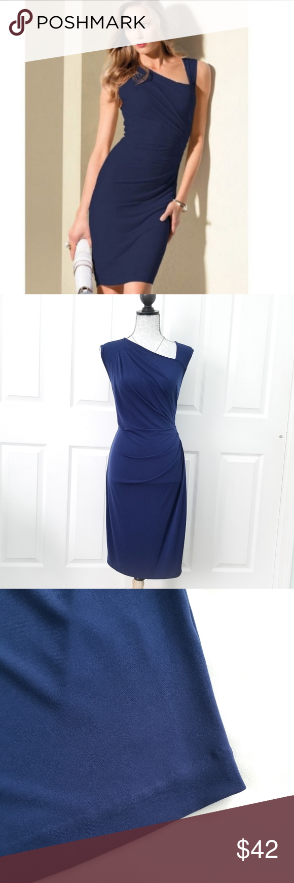 Victoria S Secret Asymmetrical Dress Victoria S Secret Asymmetrical Cocktail Dress In Navy Blue Gorgeously Flatt Asymmetrical Dress Flattering Dresses Dresses [ 1740 x 580 Pixel ]