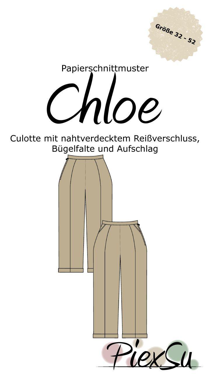Papierschnittmuster Chloe Ein Schnittmuster für eine Cullette mit ...