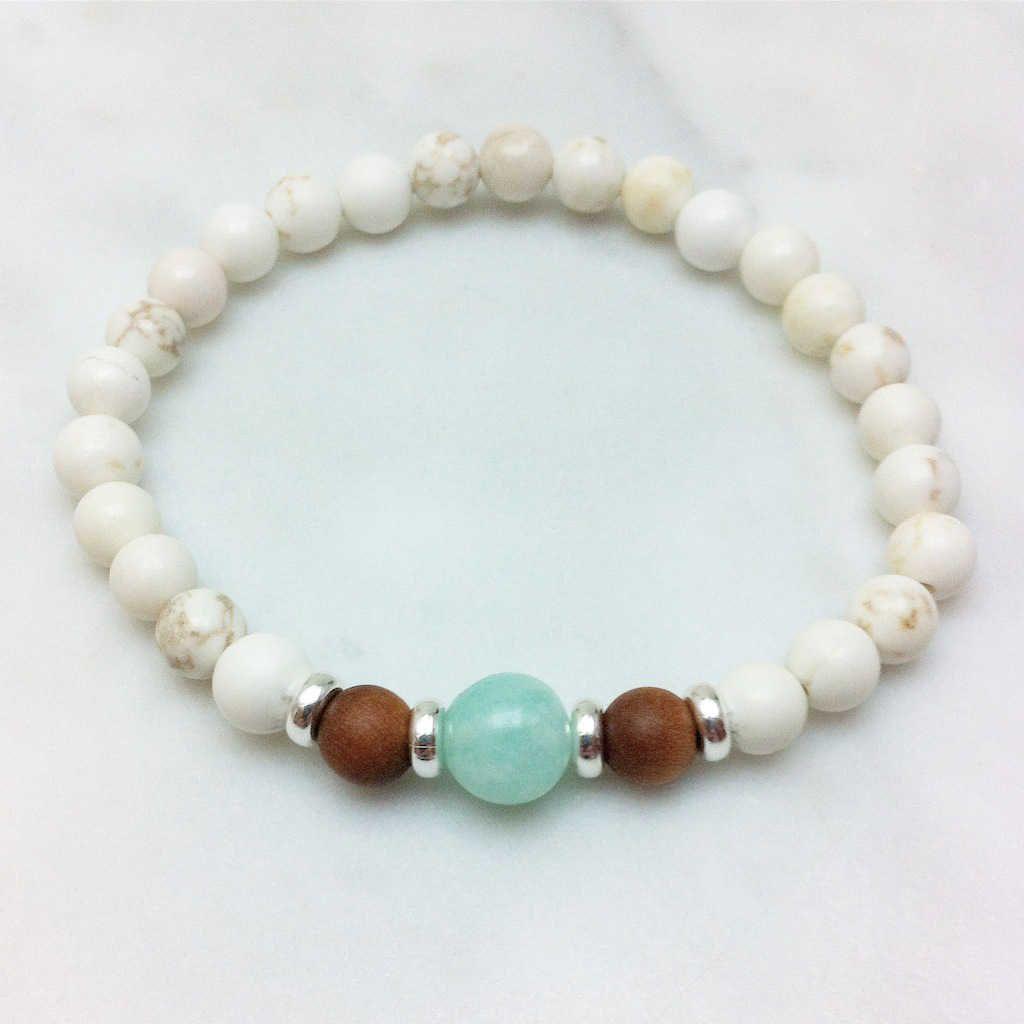 bead bracelet jewelry bracelet amazonite gemstone sandalwood mala bracelet mala bracelet bracelet Mala Bracelet bracelet for women
