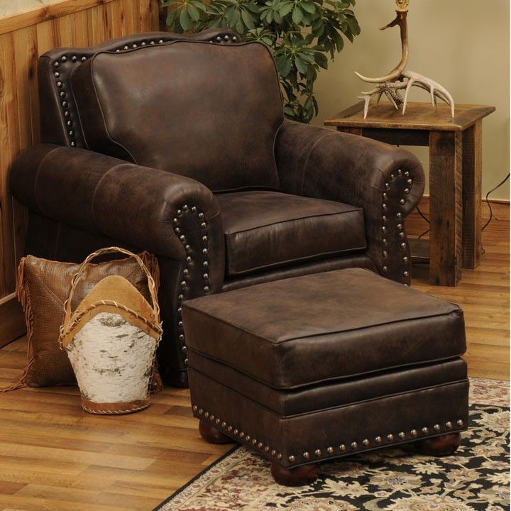 Jerome Davis Chair Ottoman Basement Rec Room Log Cabin
