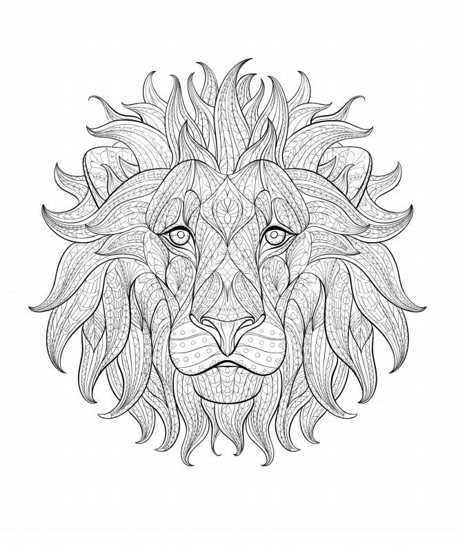 Lion Lion Coloring Pages Animal Coloring Pages Mandala Coloring Pages