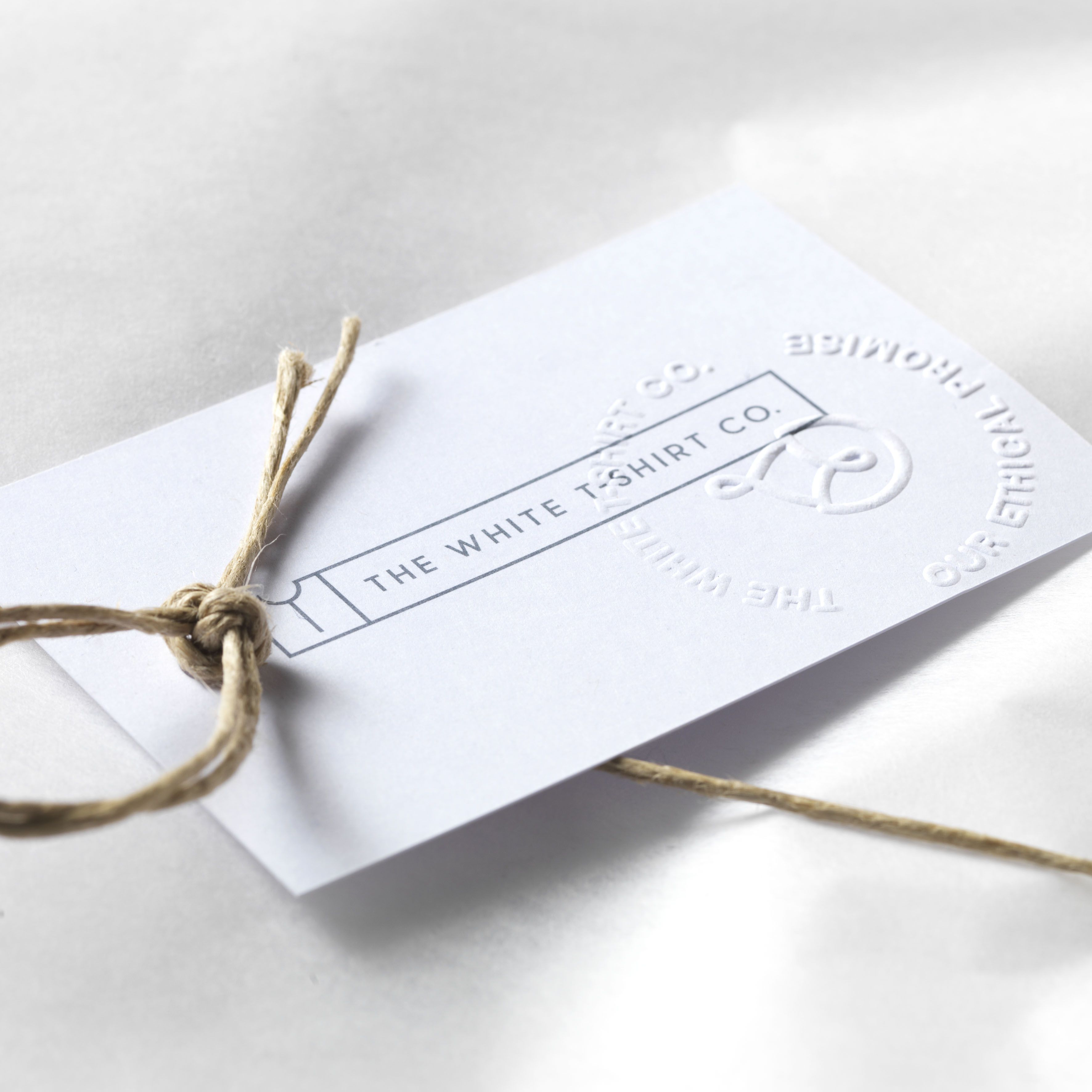 Our embossed gift tag and trim