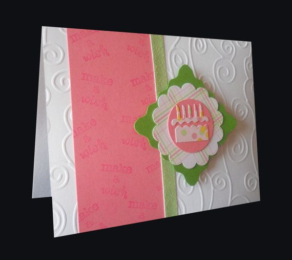 Set of handmade, embossed birthday cards