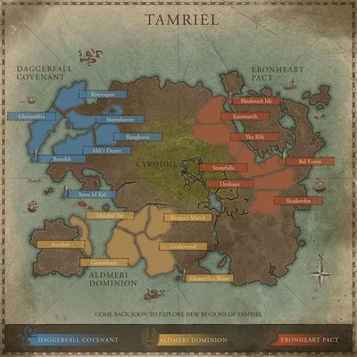 Locations Online Weltkarte Elder Scrolls Online The Elder