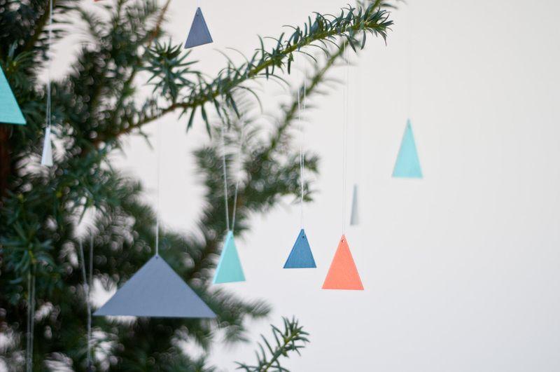 Christbaumkugeln Anhänger.Nice Baumschmuck Triangle Crafts Geometric Trees How To Make
